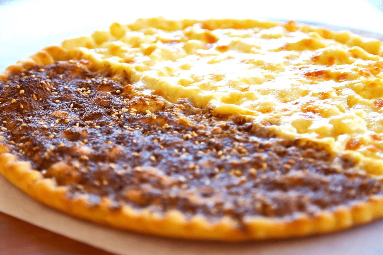 Cheese and Za'atar Manakish